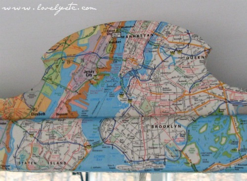 new york map mirror