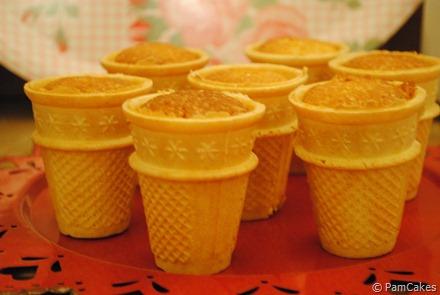 Cupcakes en cono helado