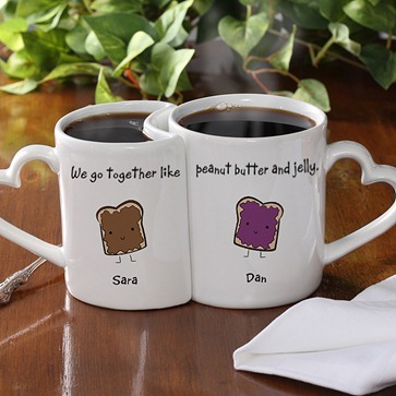 interlocking love mugs