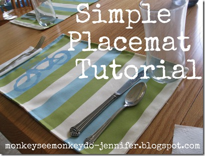 simple placemat tutorial