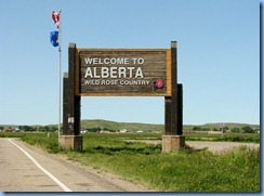 8618 Alberta Trans-Canada Highway 1 - Welcome sign