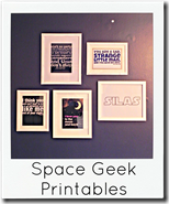 space geek printables