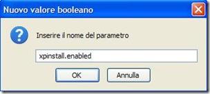 Firefox parametro xpinstall.enabled