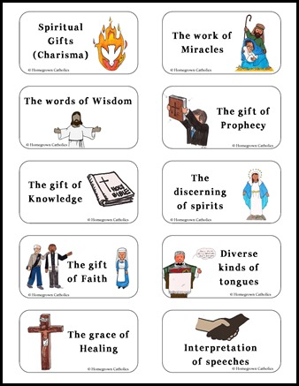 gifts of the holy spirit activity sheets - Heart.impulsar.co