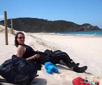 Mittagspause am einsamen Strand