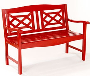 red chinese chippendale garden bench world market