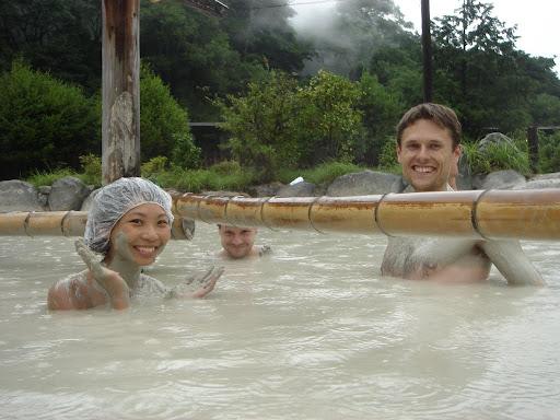 sulphur mud bath in Beppu