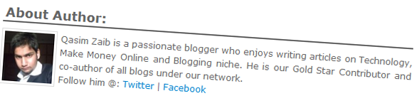 Author Box in Blogger