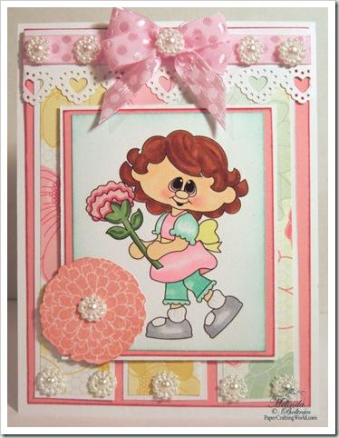 girl flower digi clipart emilycard 500