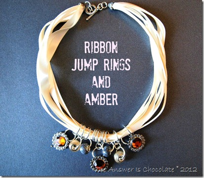 Ribbon Rings Amber