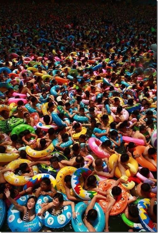 over crowded chinese water park 3