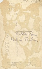 Esther Rose and Helia Erickson Postcard Duluth back