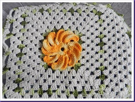 Jogo Banheiro Croche com Flor 1d