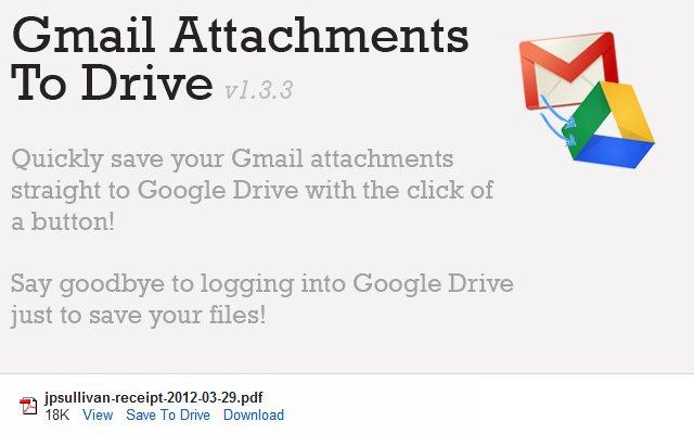 Archivos de Gmail en Google Drive