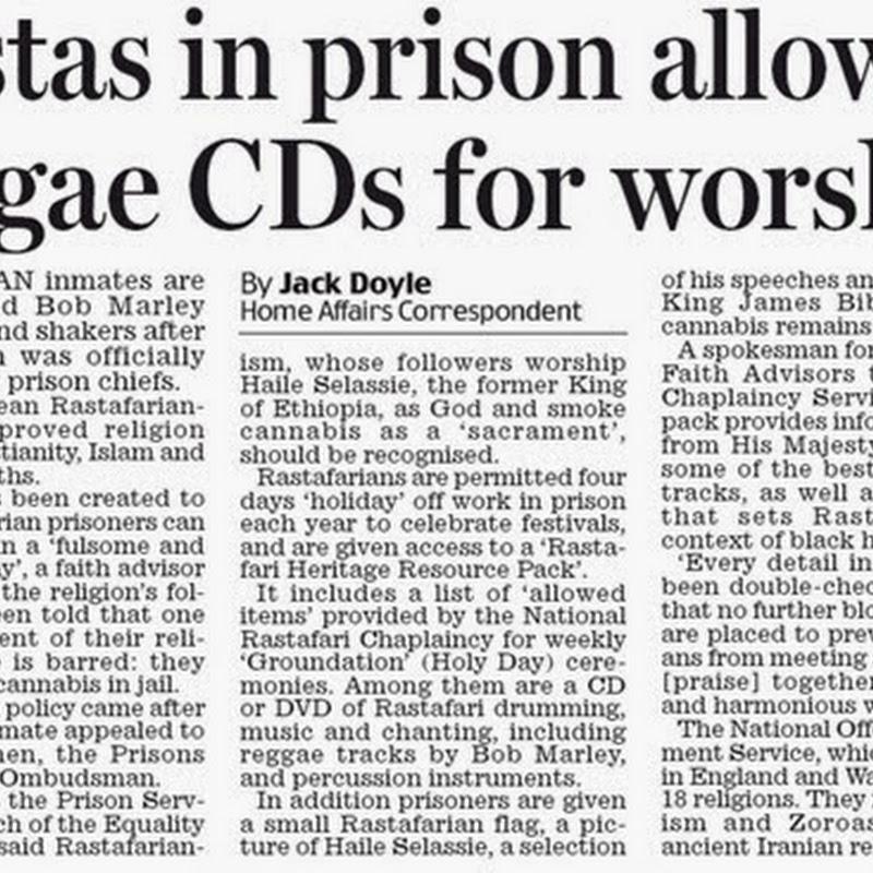 Rastafari. Religión reconocida en UK y en sus cárceles