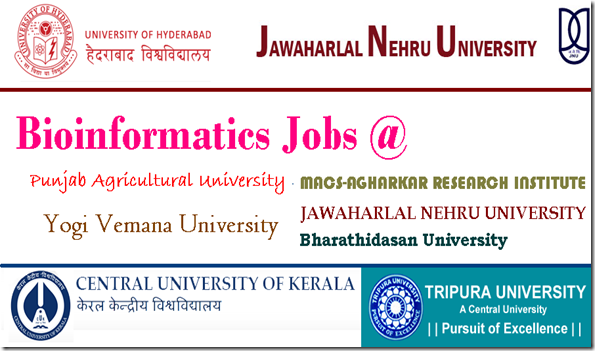bioinformatics jobs,jnu,hyderabad university
