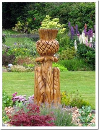 Scottish thistle in wood.