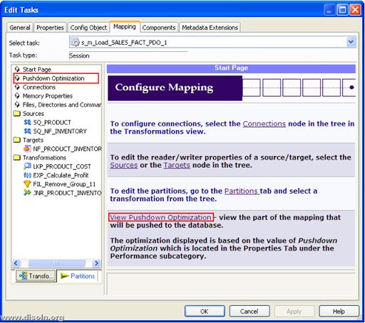 Informatica PowerCenter Pushdown Optimization viewer