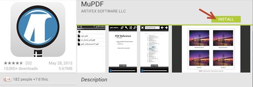 แอปอ่าน pdf บนอุปกรณ์ smartphone