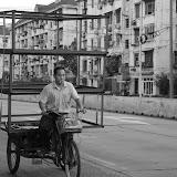 Shanghai - Marché poisson - Cube à vélo