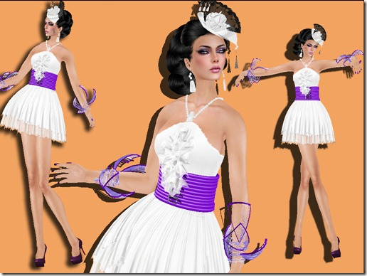 aDiva couture Merveile Crinkle Dress SilverWhite_007