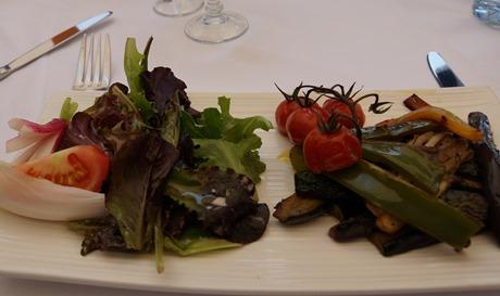 Salad from Blue Beach Plage Restaurant