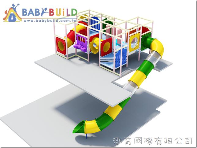 BabyBuild 樓梯管狀隧道滑梯設計
