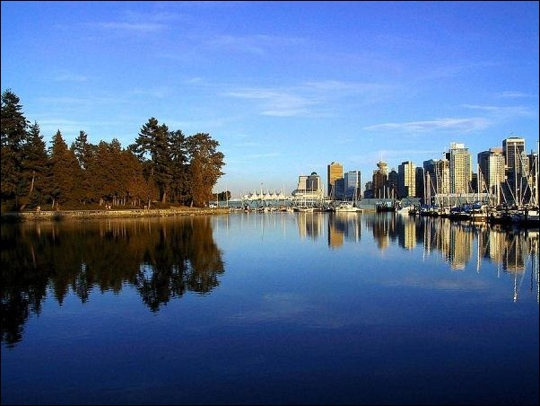 1. Vancouver, Canada reflection in water