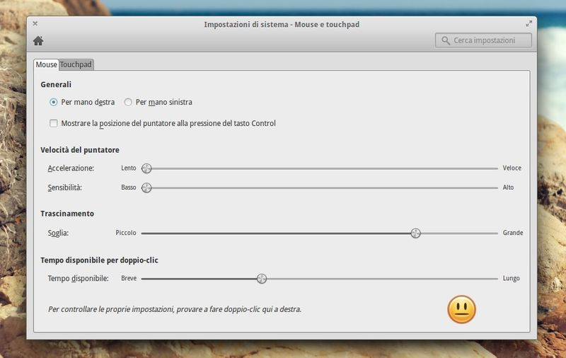 elementary OS 0.2 Luna - gestore mouse e touchpad