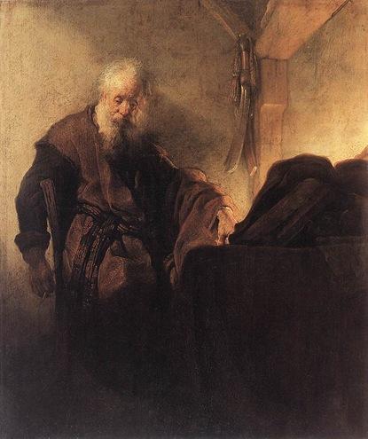 st_paulAtDesk_Rembrandt