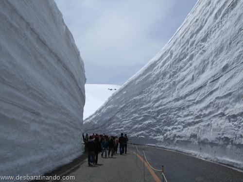 parede de neve 20 metros japao desbaratinando  (6)