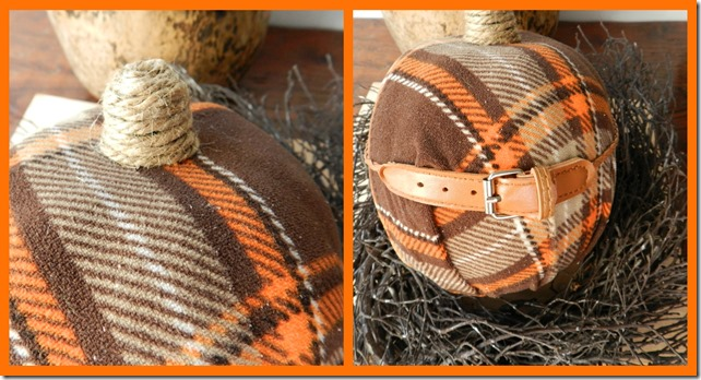 plaid pumpkin collage