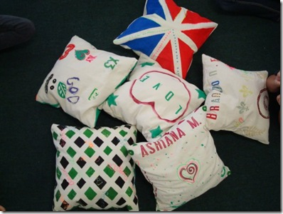 pile of finished pillows