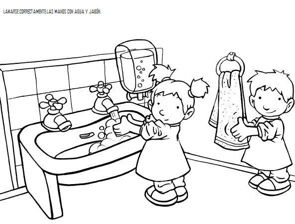 Normas de comportamiento para colorear for Normas de comportamiento en el restaurante escolar