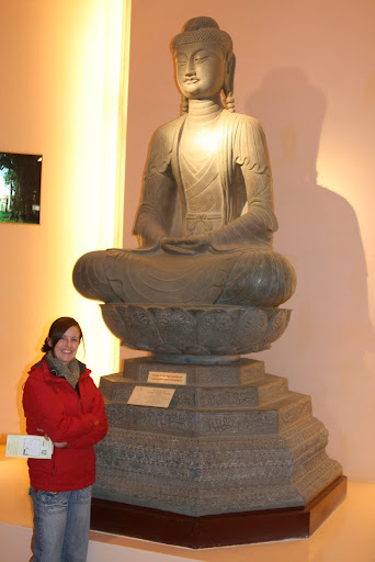 Copy of Buddha Amithaba statue, Ly Dynasty, Bac Ninh province, Northern Vietnam.