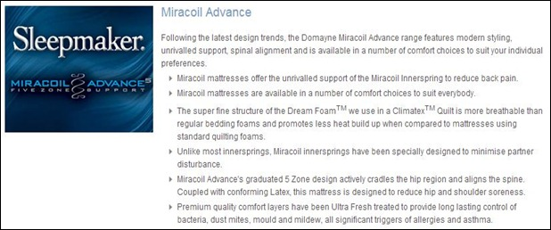 Sleepmaker Miracoil Advance