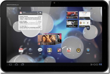Features Of Motorola Xoom  Wi-Fi, 3G, 32 GB