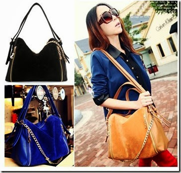 SY 972 Brown, Blue, Black (195.000) - PU Leather, 27 x 27 x 15, talpan