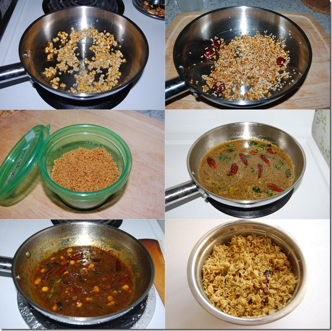 Puliyodharai process