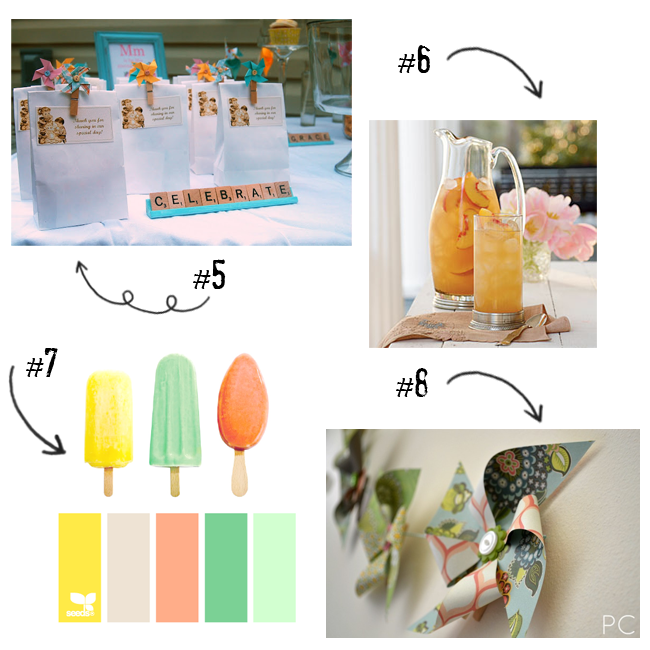Pinwheel and Pearls Baby Shower Mood Board
