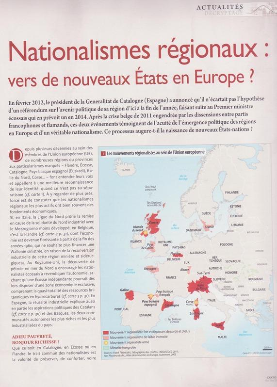 Nationalismes régionaux 1