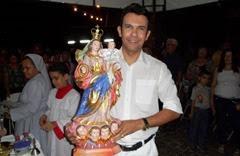 Padre Jocimar e Nossa Senhora do Rosário