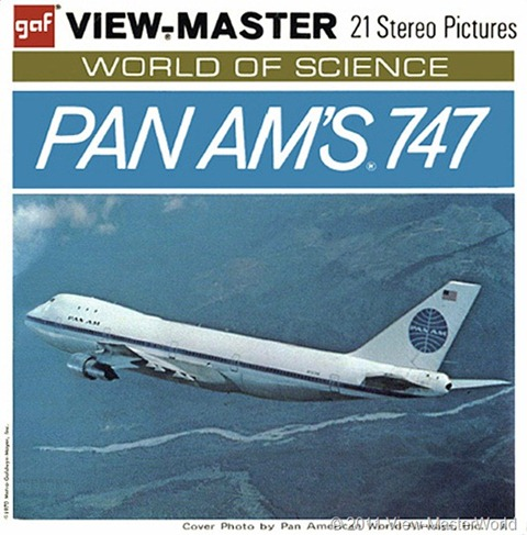 View-Master Pan Ams 747 (B747), Packet Cover