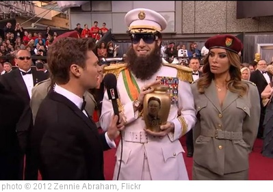 'Ryan Seacrest and The Dictator at The Oscars' photo (c) 2012, Zennie Abraham - license: http://creativecommons.org/licenses/by-nd/2.0/