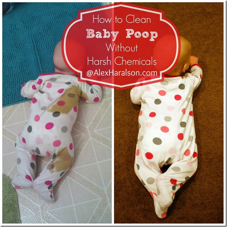 Alex Haralson How To Clean Baby Poop Without Harsh Chemicals Or