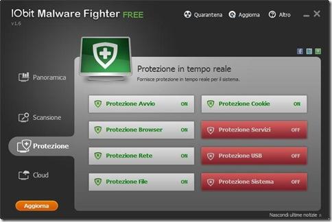 IObit Malware Fighter Free Protezione