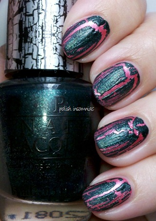 OPI Green Shatter over Your Web or Mine