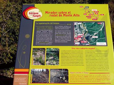 Ruta del bosque y el fuego Zuera Monte alto panel