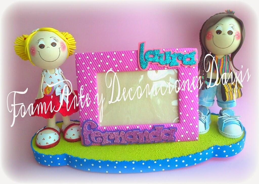 Foamiarte y decoraciones dayis portaretratos en foami o for Decoracion con goma eva