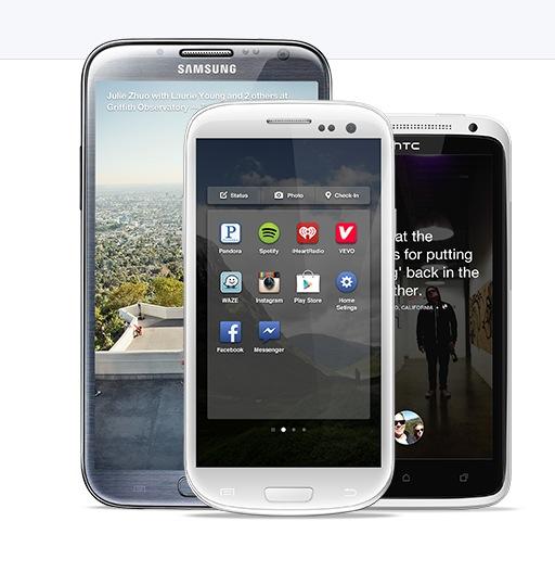 Dispositivos facebook home geekarq